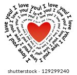 i love you in the form of heart | Shutterstock . vector #129299240