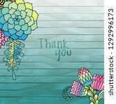 colorful flowers succulents on...   Shutterstock . vector #1292996173