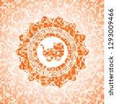 baby cart icon inside orange...   Shutterstock .eps vector #1293009466