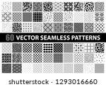 mega pack of 60 black and white ...   Shutterstock .eps vector #1293016660