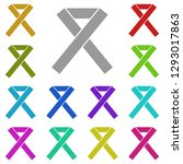 ribbon aids icon in multi color....