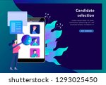 concept landing page template... | Shutterstock .eps vector #1293025450