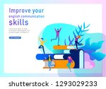 landing page templates for... | Shutterstock .eps vector #1293029233