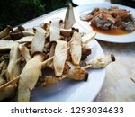 fried fresh mushrooms with... | Shutterstock . vector #1293034633