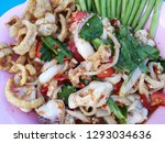 seafood spicy salad  som tum... | Shutterstock . vector #1293034636