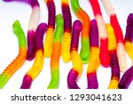 gelatin candy close up on white ... | Shutterstock . vector #1293041623