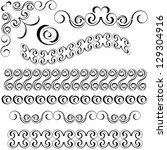 vector decorative frames | Shutterstock .eps vector #129304916