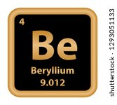 beryllium  element from the... | Shutterstock .eps vector #1293051133
