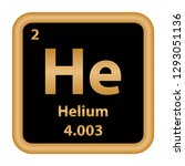 helium element from the... | Shutterstock .eps vector #1293051136