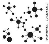 icon logo molecules  atomic... | Shutterstock .eps vector #1293055213