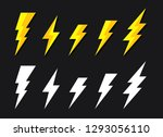 yellow lighting strike simple... | Shutterstock .eps vector #1293056110