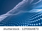abstract polygonal space low... | Shutterstock . vector #1293064873
