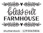 hand written bless our... | Shutterstock .eps vector #1293065806