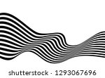black and white curved line ... | Shutterstock .eps vector #1293067696