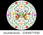 ethnic mexican tapestry with... | Shutterstock .eps vector #1293077530
