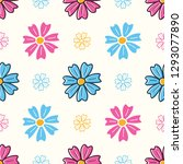 colorful seamless pattern with... | Shutterstock .eps vector #1293077890
