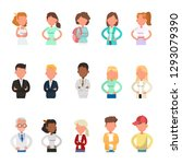 set of business people avatar... | Shutterstock .eps vector #1293079390