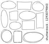 set of hand drawn sketched...   Shutterstock .eps vector #1293079843