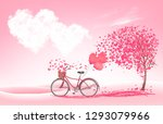 valentine's day background with ... | Shutterstock .eps vector #1293079966