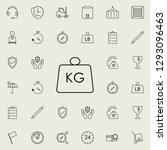 weight kg icon. logistics icons ... | Shutterstock .eps vector #1293096463
