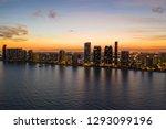 aerial twilight photo sunny... | Shutterstock . vector #1293099196
