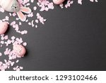 happy easter background with... | Shutterstock . vector #1293102466