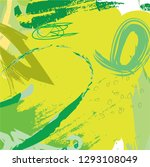 abstract colorful green paint... | Shutterstock .eps vector #1293108049
