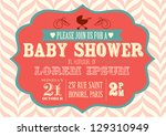 Stock vector baby shower invitation template vector illustration 129310949