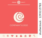 logo   two spirals are located... | Shutterstock .eps vector #1293115783