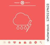 cloud thunderstorm lightning... | Shutterstock .eps vector #1293119623