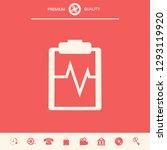 electrocardiogram symbol icon.... | Shutterstock .eps vector #1293119920