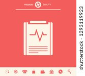 electrocardiogram symbol icon.... | Shutterstock .eps vector #1293119923