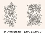 rose ornament vector by hand... | Shutterstock .eps vector #1293122989