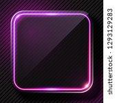 glowing purple light banner | Shutterstock .eps vector #1293129283