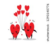 cartoon hearts funny and cute... | Shutterstock .eps vector #1293140776