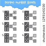 domino number bonds worksheet... | Shutterstock .eps vector #1293143230