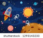 space element in space... | Shutterstock .eps vector #1293143233