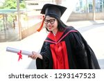 asian girls graduated and... | Shutterstock . vector #1293147523