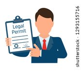 Legal permit. Business concept. Vector image, white background.
