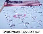 calendar april  circled day of... | Shutterstock . vector #1293156460
