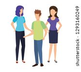 group of people characters | Shutterstock .eps vector #1293160249