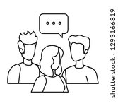 group of people with speech... | Shutterstock .eps vector #1293166819