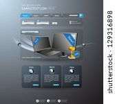 website template | Shutterstock .eps vector #129316898