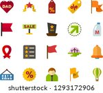 color flat icon set   cemetery... | Shutterstock .eps vector #1293172906