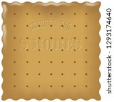 cracker for s'mores. cookies... | Shutterstock .eps vector #1293174640