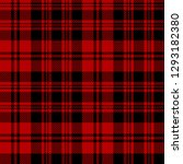 red and black tartan plaid... | Shutterstock .eps vector #1293182380