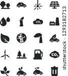 solid black vector icon set  ... | Shutterstock .eps vector #1293182713