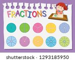 math fraction education... | Shutterstock .eps vector #1293185950