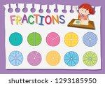 math fraction education... | Shutterstock .eps vector #1293185950