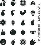 solid black vector icon set  ... | Shutterstock .eps vector #1293187249